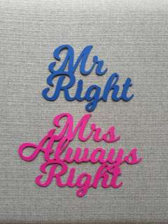 Wedding Chair Sign Set Customized