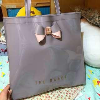 Ted Baker 時尚迷人紫灰手挽袋(大)