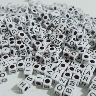 Letter Cube Beads