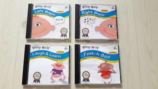 Bundle of 4 Used Brainy Baby VCDs for Babies