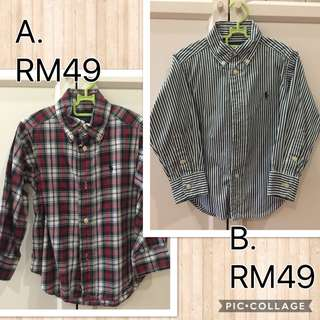 Polo Ralph Lauren Shirt 2T 90cm