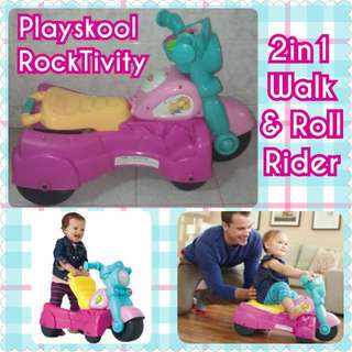 Playskool 2in1 Push Walker & Motor Rider