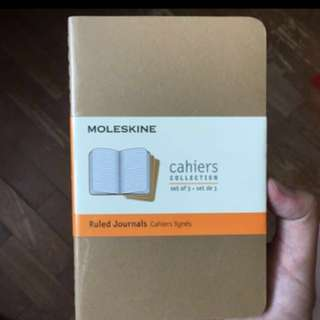 MOLESKINE cahiers collection Set of 3 Ruled Journals