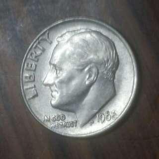 1966年十美分硬幣