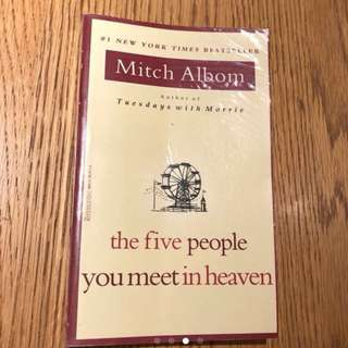 The Five People You Meet in Heaven by Mitch Albom. STOCKS CLEARANCE