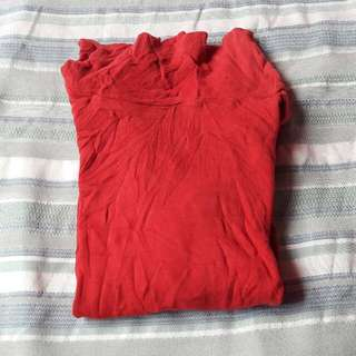 Plain Red Turtleneck for kids