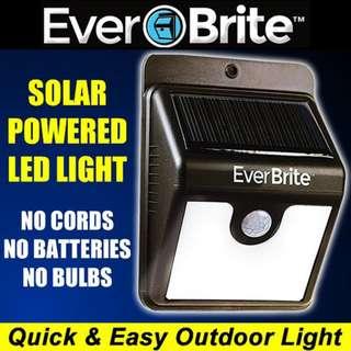Ever Brite Outdoor Solar Sensor LED Light, PIR Motion Sensor