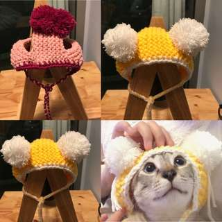 Customised pet hat accessories in multiple designs and colours