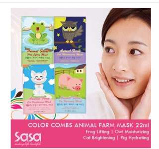 Sale! 4 Pcs Korean Animal Farm Moisturising Masks