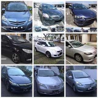 Car rental / Grab / Uber / Daily short term