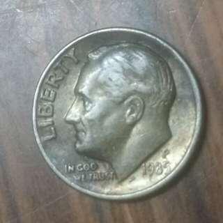 1985年十美分硬幣