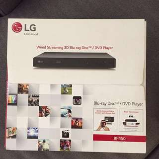 Brand LG Blu-ray DVD player.