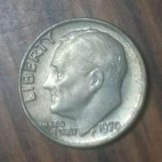 1970年十美分硬幣