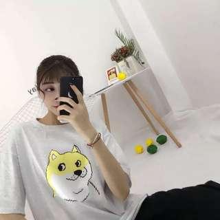 Ulzzang Printed Loose Short Sleeve Tshirt