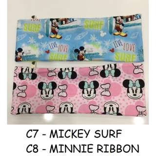 brand new baby pillow in pink minnie and blue mickey children baby newborn kids beansprout husk filling with pillow case