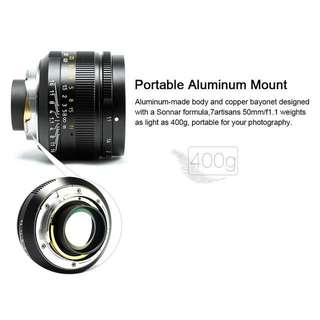 7artisans Photoelectric 50mm f/1.1 Lens for Leica M-Mount Cameras (Black)