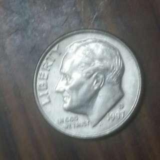1997年十美分硬幣