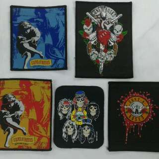Guns n Roses Vintage patches 90s.Rm50 each.