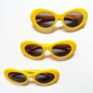 Kacamata Fashion - Yellow Oval Glasses