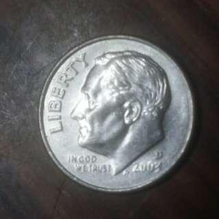 2003年十美分硬幣