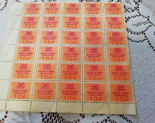 10cts Revenue stamps 30pcs
