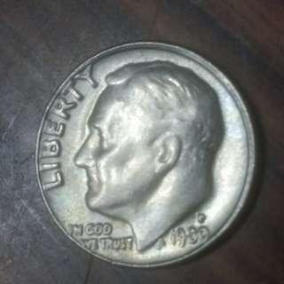 1980年十美分硬幣