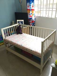 IKEA Gulliver Baby Cot - Mattress included