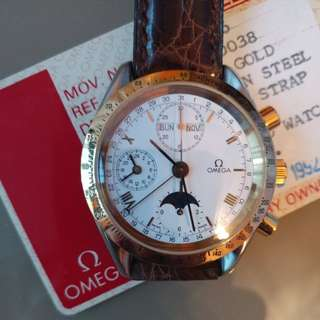 Omega Man Speedmaster Chronograph Moon Phase
