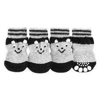 Bear knitted socks