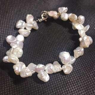 不規則珍珠手鏈 pearl bracelet