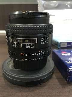 Nikkor AF 24mm F2.8D with Accessories