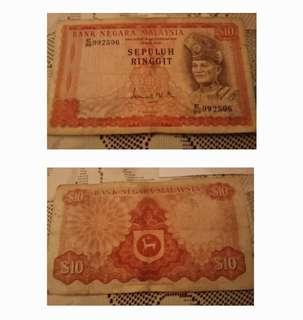 Duit kertas RM10 lama