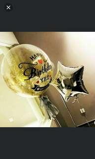 Birthday Balloon, 24 inch customisable helium balloon.