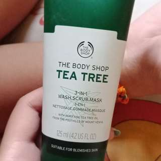 Tea Tree 3 in 1 wash, scrub, mask