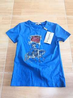 New Burberry Blue T-SHIRT
