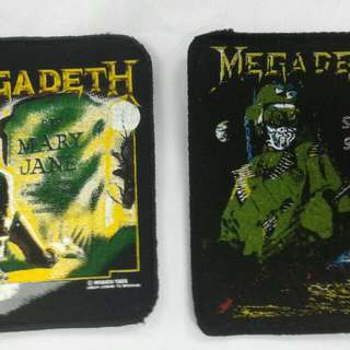 Megadeth vintage patches
