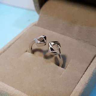[READY STOCK] [FREE SIZE] Silver Couple Ring, open mouth