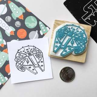 Hand-Carved Stamp - Millennium Falcon (Star Wars)