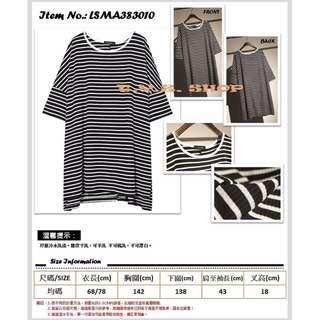 T.Y.Z Shop 簡約休閒風黑白撞色條紋圓領T恤  Item No.: 0318/LSMA383010 售價︰ HK$118
