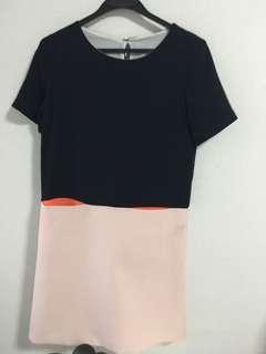 Saturday club colourblock dress