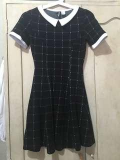 H&M Black and White Grid Dress