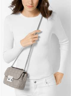Michael Kors Sloan Small Quilted-Leather Shoulder Bag