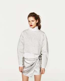 Zara Crop Top Sweatshirt