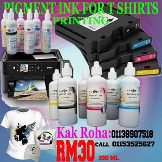 PIGMENT INK, For T shirt Printing RM30