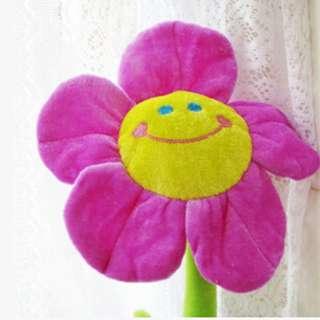 BNIP 2pcs Flexible Flower Curtain Holder - Purple