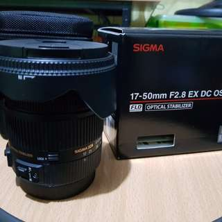 SIGMA 17-50mm, f2.8, EX DC OS (Canon Mount)