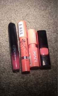 ASSORTED PINK LIP PRODUCTS