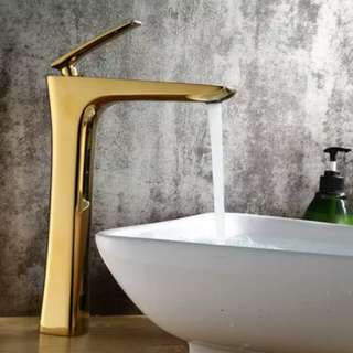 Luxury Gold Finished Brass Sink Faucet