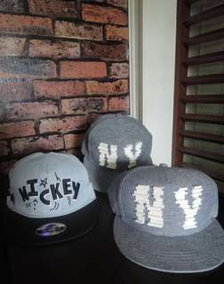 Classic Mickey Mouse Printed Cap and NY Couple Cap