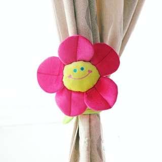 BNIP 2pcs Flexible Flower Curtain Holder - Hot Pink